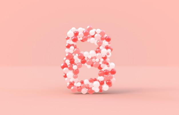 Boules de bonbon sucré lettre b.