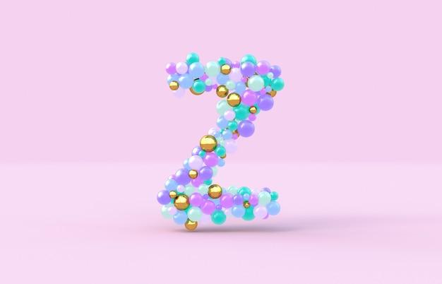 Boules de bonbons doux lettre z