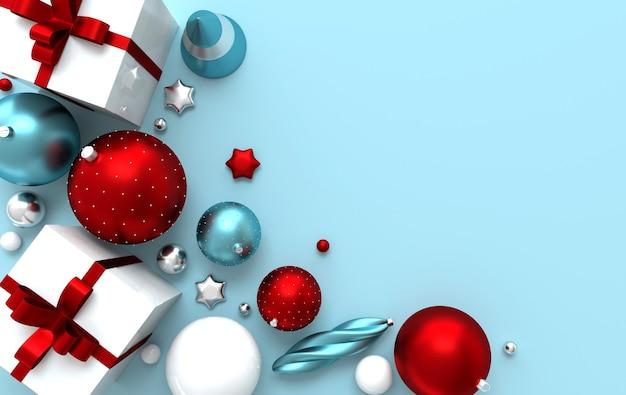 Boules de noël, étoiles, coffret cadeau