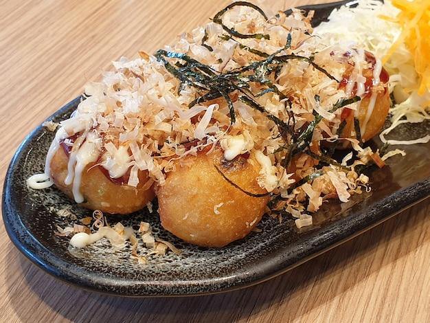 Boules de poulpe takoyaki cuisine japonaise
