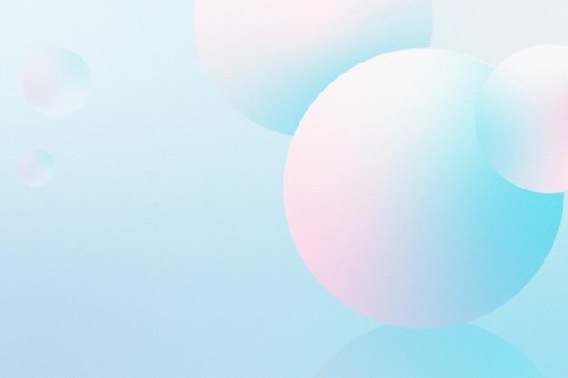 Boules roses et bleues 3d sur fond bleu