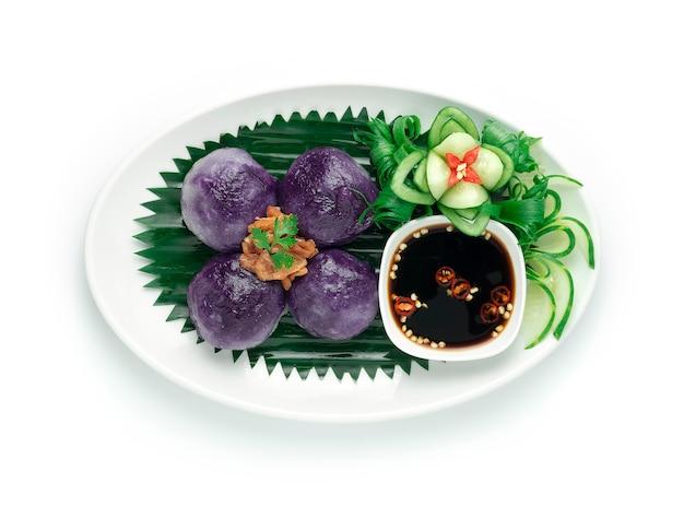 Boulettes chinoises de patate douce violette