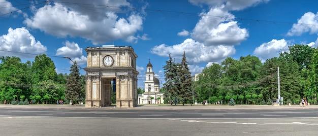 Boulevard stefan cel mare à chisinau, moldavie