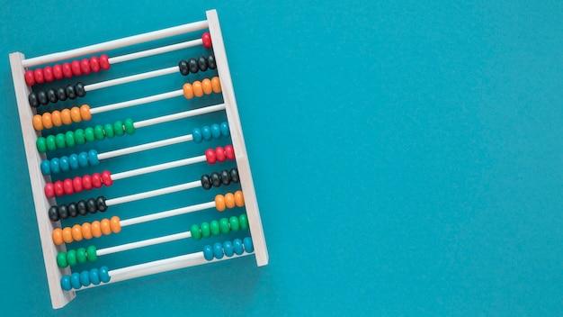 Boulier vue de dessus minimaliste avec espace copie