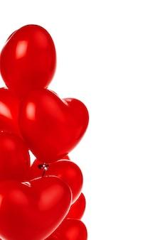 Bouquet de ballons en forme de coeur rouge