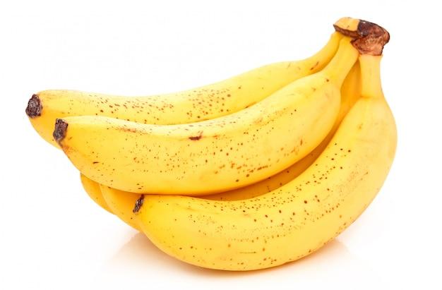 Bouquet de banane mûre isolée