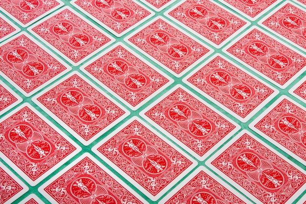 Bouquet de cartes retournées