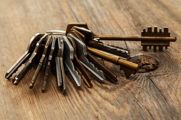Bouquet de clés différentes
