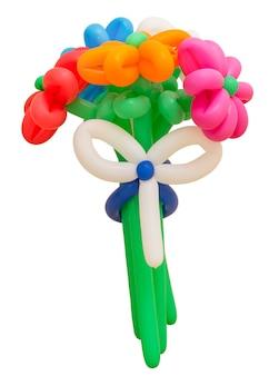 Bouquet coloré de ballons isolé sur blanc