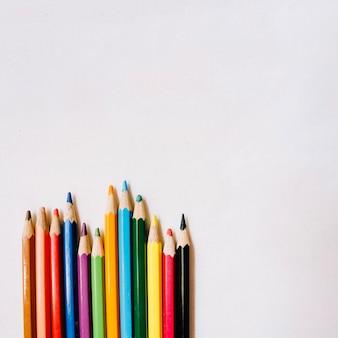 Bouquet de crayons de couleur