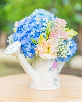 Bouquet de fleurs hortensia