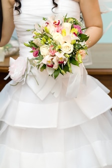 Bouquet de fleurs pour la mariée