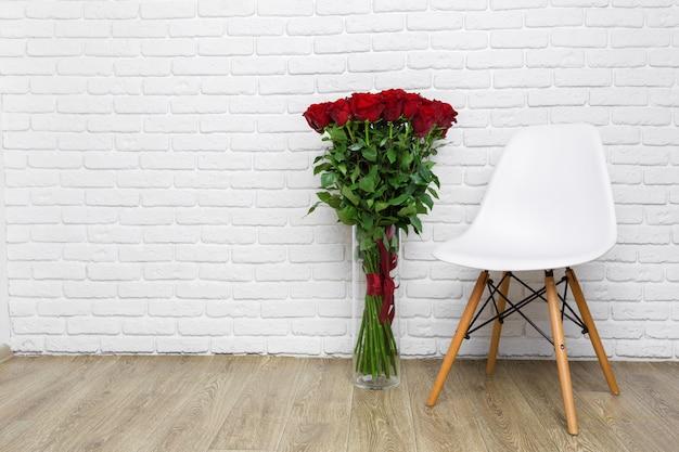 Bouquet de luxe fait de roses rouges