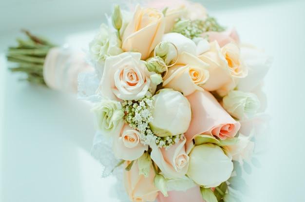 Bouquet de mariée aux couleurs pastel