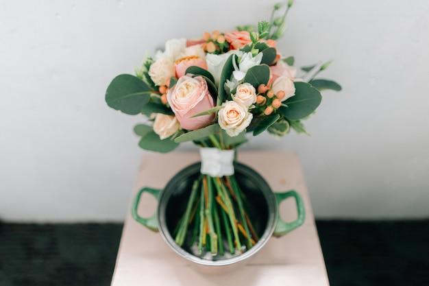 Bouquet de mariée en pan