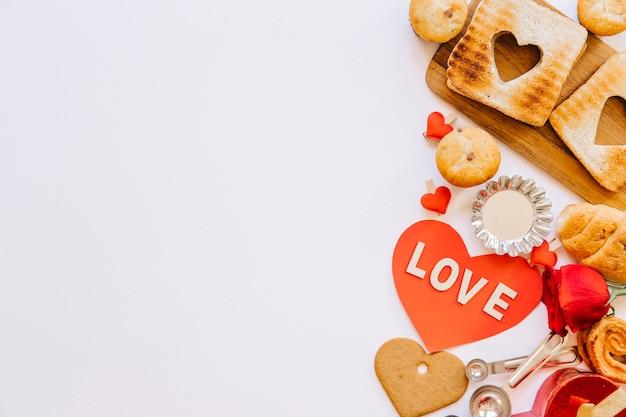 Bouquet de pâtisserie pour la saint-valentin
