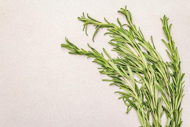 Bouquet de romarin frais. brins d'herbes crues