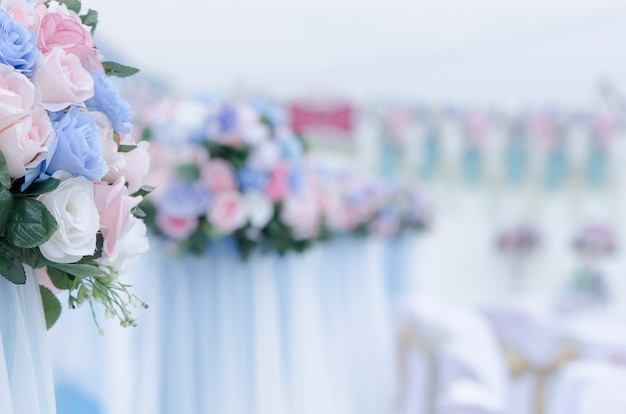 Bouquet de roses dans le mariage