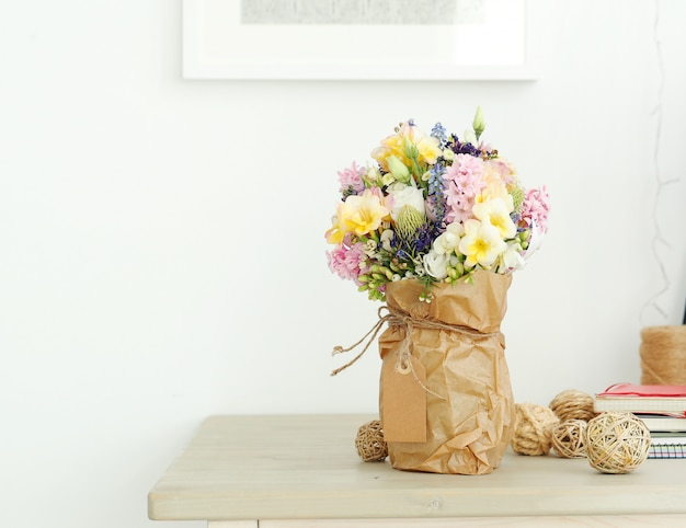 Bouquet sur la table