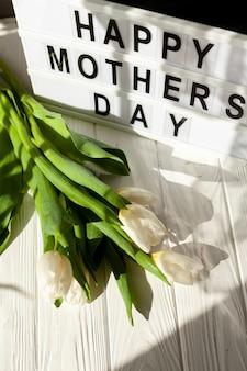 Bouquet de tulipes avec lightbox