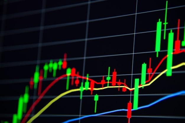 Bourse d'actions ou de forex et échange de données sur le marché