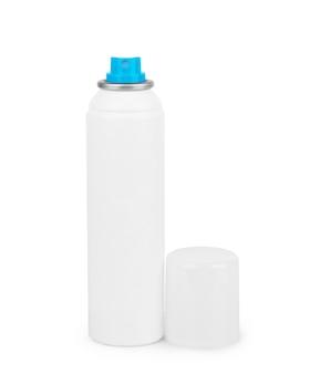 Bouteille blanche avec roll-on déodorant anti-transpirant pour le corps isolé sur fond blanc