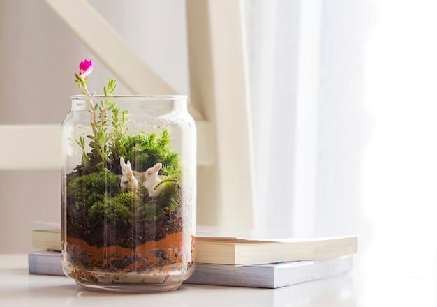 Bouteille de décoration de jardin dans le salon