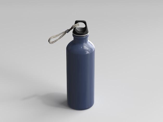 Bouteille d'eau en aluminium rendu 3d