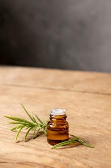 Bouteille d'huile à angle élevé avec brindille