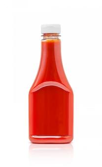 Bouteille de ketchup à la sauce tomate isolé