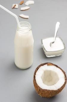 Bouteille de lait de coco bio