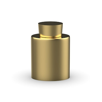 Bouteille en métal maquette isolée