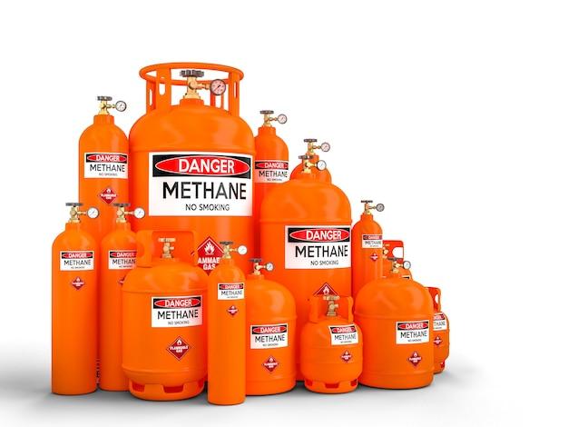 Bouteille de méthane