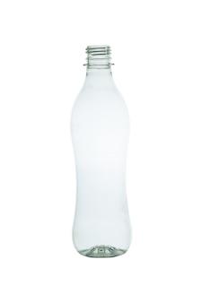 Bouteille en plastique isolé sur blanc