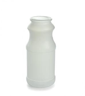 Bouteille en plastique vide isolé sur fond blanc