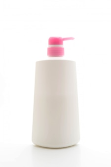 Bouteille de shampoing isolé on white