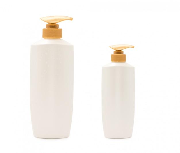 Bouteille de shampooing tête de pompe avec goutte d'eau