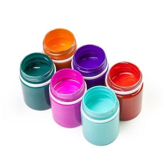 Bouteilles de peinture en plastique pour l'art