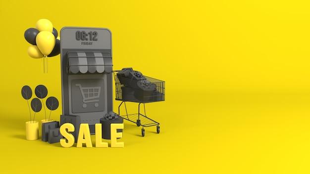 Boutique e-commerce en ligne 3d