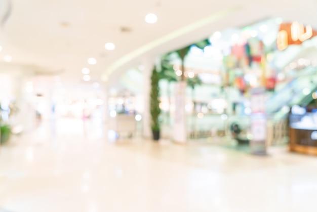 Boutique de flou abstrait et magasin de détail dans le centre commercial pour le fond