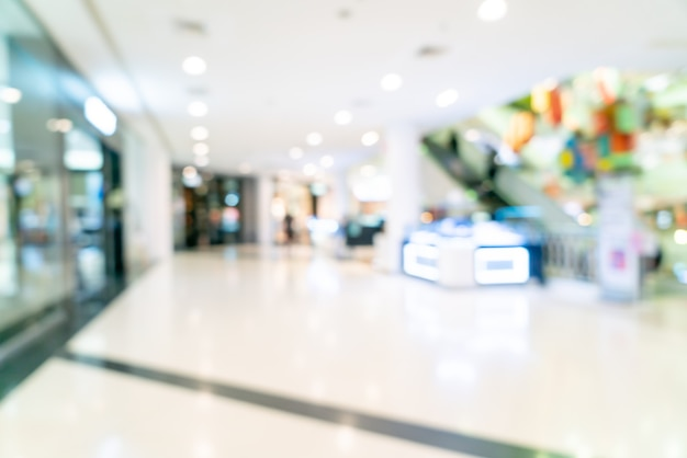 Boutique de flou abstrait et magasin de détail dans un centre commercial pour le fond