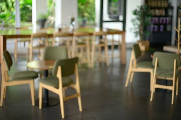 Boutique floue et défocalisée bar counter cafe restaurant relaxation