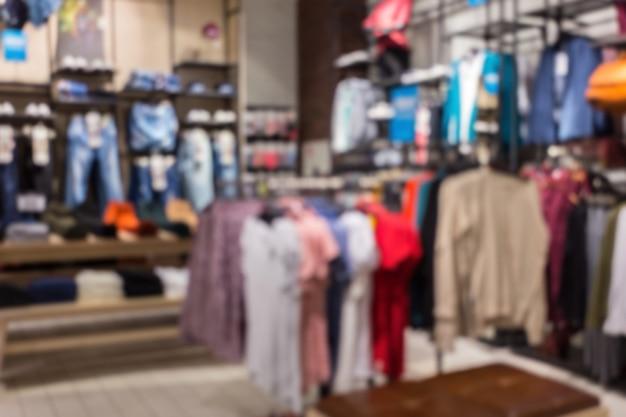 Boutique de vêtements abstraits floues
