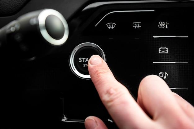 Bouton d'arrêt de démarrage du moteur de voiture automatique pour sans clé.