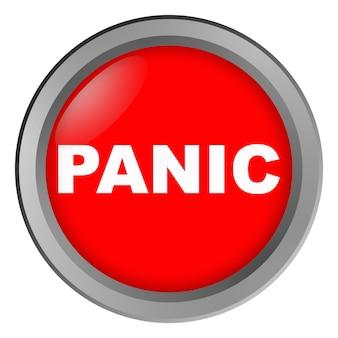 Bouton avec inscription panique