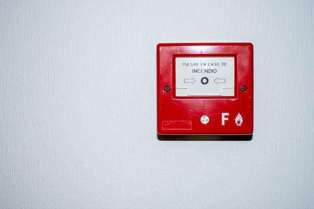 Bouton poussoir d'alarme incendie
