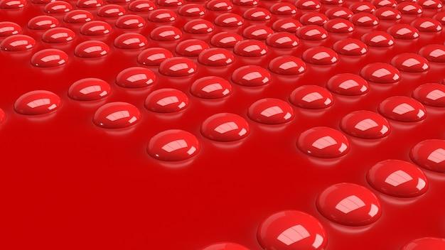 Le bouton rouge sur l'image brillante pour le rendu 3d abstrait