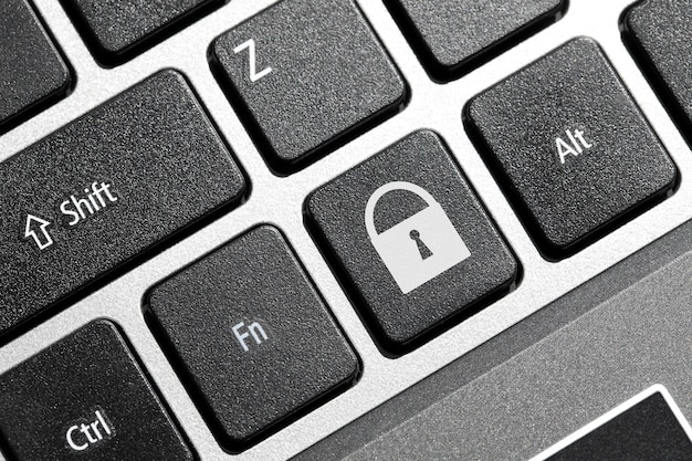 Bouton de verrouillage sur le clavier