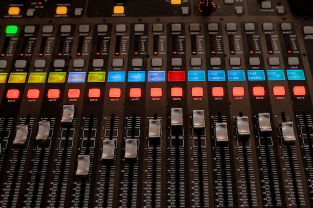 Boutons équipements pour le contrôle du mixeur de sons, équipements pour le contrôle du mixeur de sons, appareil électroménager