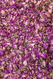 Boutons de rose secs